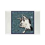 Cat Libra Rectangle Magnet (10 pack)