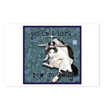Cat Libra Postcards (Package of 8)