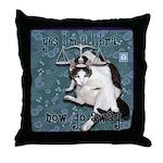 Cat Libra Throw Pillow