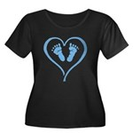 Heart and Feet Plus Size T-Shirt