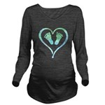 Blue Heart and Baby Feet T-Shirt