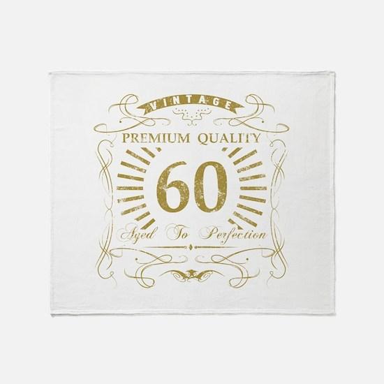 60th Birthday Gag Gift Throw Blanket