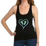 Blue Heart and Baby Feet Tank Top