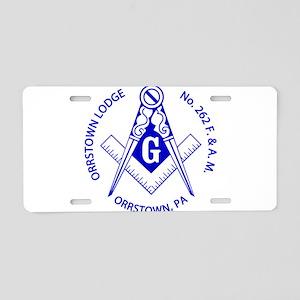 orrstown-ring-blue-split.fw Aluminum License Plate