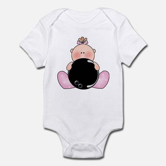 Lil Bowling Baby Girl Infant Bodysuit