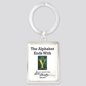 Alphabet Ends With Y Portrait Keychain