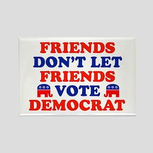 Friends Don't Let Friends Vote Democrat Rectangle