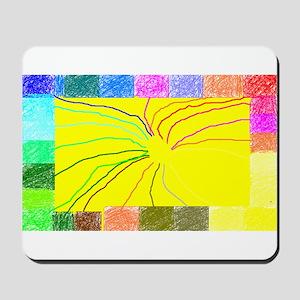 Rainbow Squares Mousepad