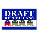 DRAFT REPUBLICANS Rectangle Sticker