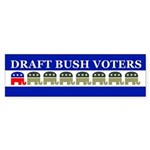 DRAFT BUSH VOTERS Bumper Sticker