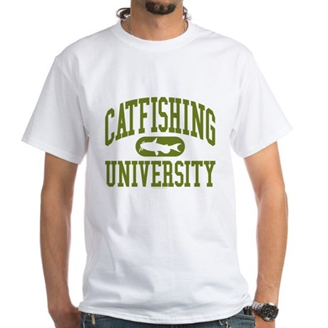 CATFISHING UNIVERSITY White T-Shirt