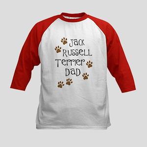 Jack Russell Terrier Dad Kids Baseball Jersey