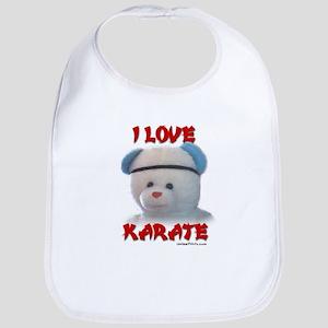 I LOVE KARATE (BEAR) Bib