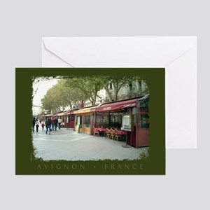 Avignon Cafes Greeting Card