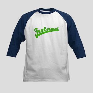 Green Baseball Font IRELAND Kids Baseball Jersey