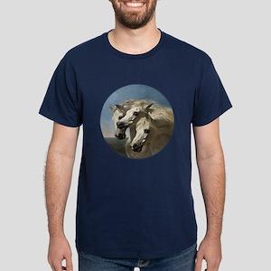 White Arabian Horses. Dark T-Shirt