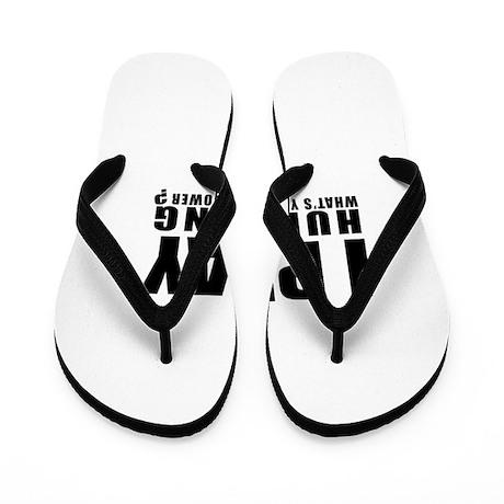 I Play Hurdling Sports Designs Flip Flops