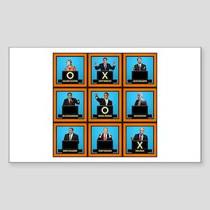 Presidential Squares Rectangle Sticker