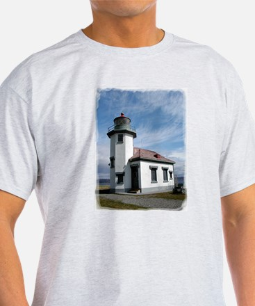 Point Robinson Lighthouse Ash Grey T-Shirt