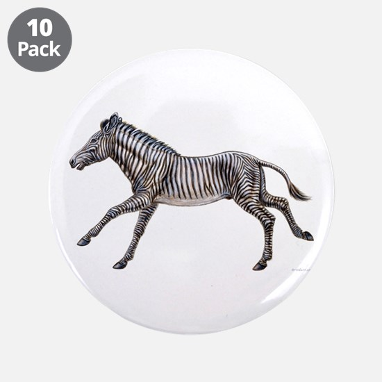 "Grevy's Zebra ~ 3.5"" Button (10 pack)"