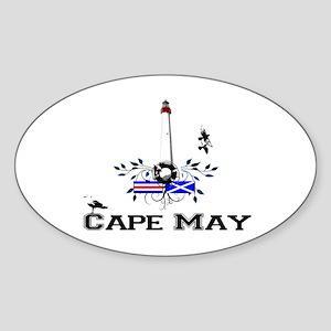 Cape May Lighthouse Oval Sticker