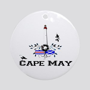 Cape May Lighthouse Ornament (Round)
