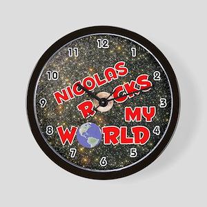 Nicolas Rocks My World (Red) Wall Clock