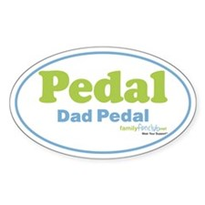Pedal Dad Pedal Oval Sticker