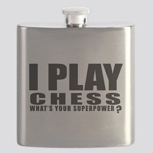 I Play Chess Sports Designs Flask