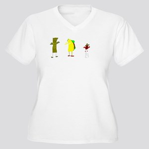Taco and Friends Women's Plus Size V-Neck T-Shirt