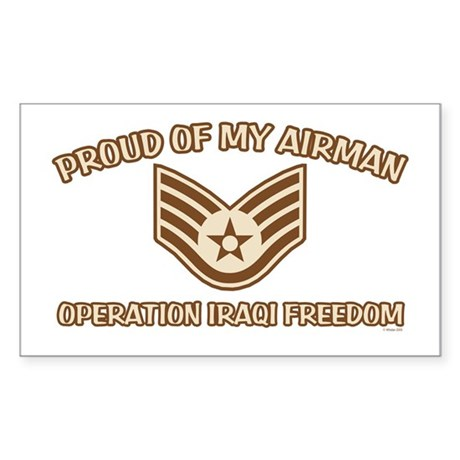 Proud of my Airman E5 Rectangle Sticker