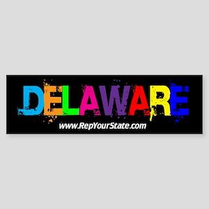 Colorful Delaware Bumper Sticker