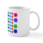 origami patterned coffee mug