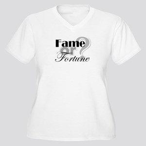 Fame or Fortune Women's Plus Size V-Neck T-Shirt