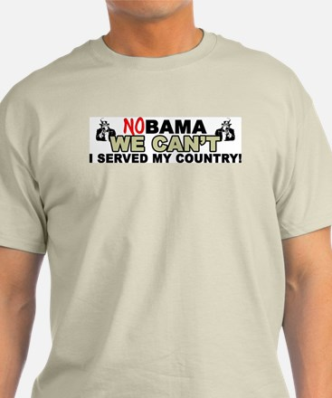 """""""No Obama, We Can't!"""" Color T-Shirt"""