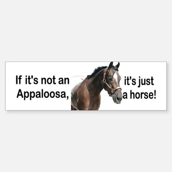 If Not Appaloosa-2 Bumper Bumper Bumper Sticker