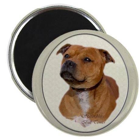 """Staffordshire Bull Terrier 2.25"""" Magnet (100 pack)"""