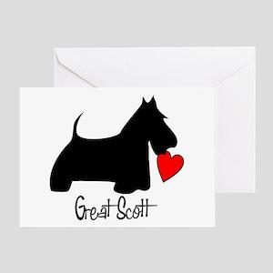 Great Scott Heart Greeting Card