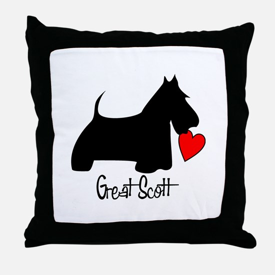 Great Scott Heart Throw Pillow