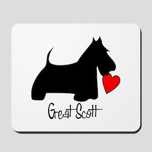 Great Scott Heart Mousepad