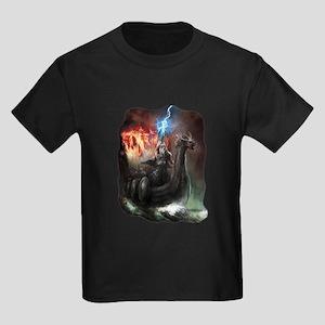Dragon Viking Ship Kids Dark T-Shirt
