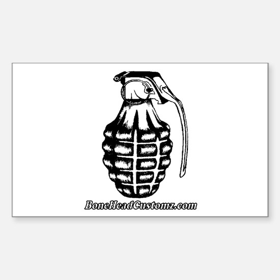 BoneHead Grenade Rectangle Decal