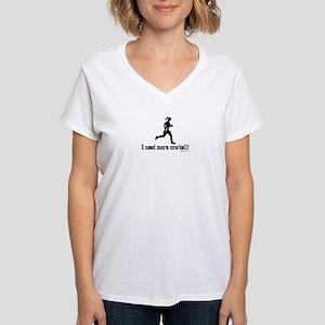 I need more cowbell running Women's V-Neck T-Shirt