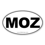 MOZ Car Oval Sticker