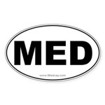 MED Car Oval Sticker