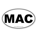 MAC Car Oval Sticker