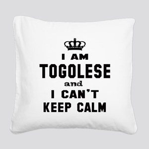 I am Togolese and I can't kee Square Canvas Pillow