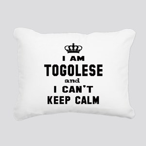 I am Togolese and I can' Rectangular Canvas Pillow