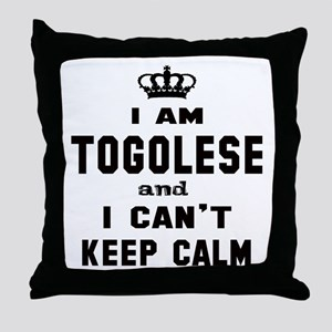 I am Togolese and I can't keep calm Throw Pillow