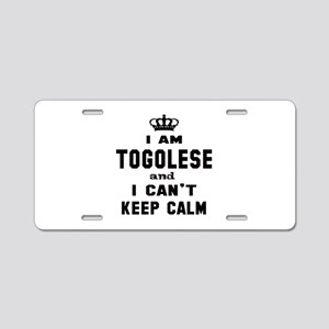 I am Togolese and I can't k Aluminum License Plate